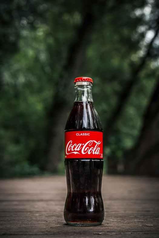 photo of coca cola bottle