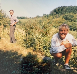 My cousin, Mario and I helping my Dida with yard work in the mountains in Yugoslavia in 1996. It felt good to help and learn